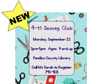 Cover photo for NEW 4-H Sewing Club