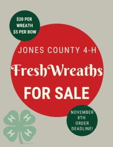 Cover photo for Jones County 4-H Wreath Fundraiser