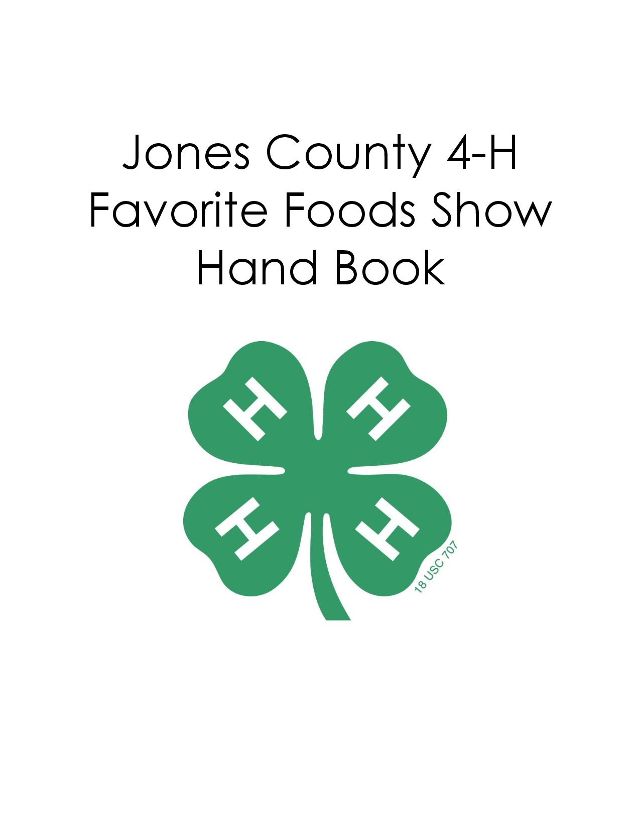 Favorite Foods Show Handbook cover image