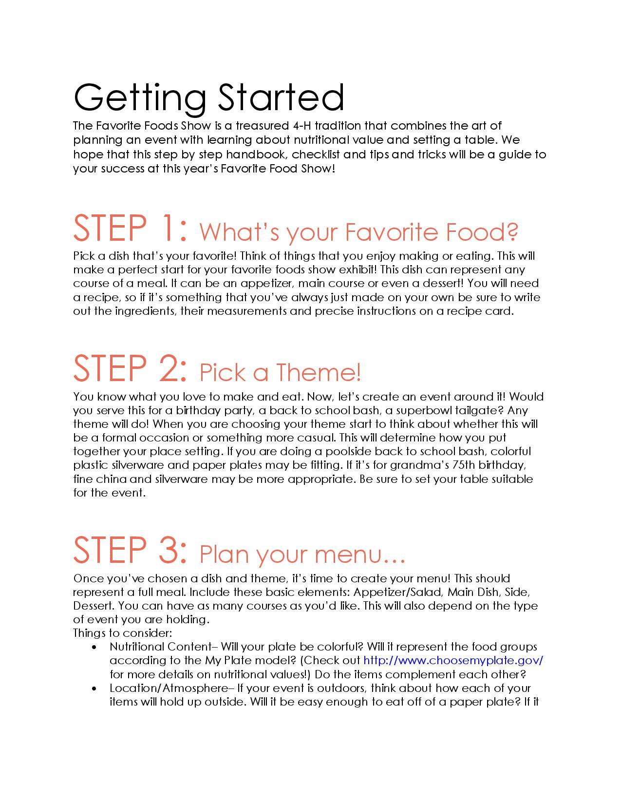 Favorite Foods Shoe Handbook page 2 image
