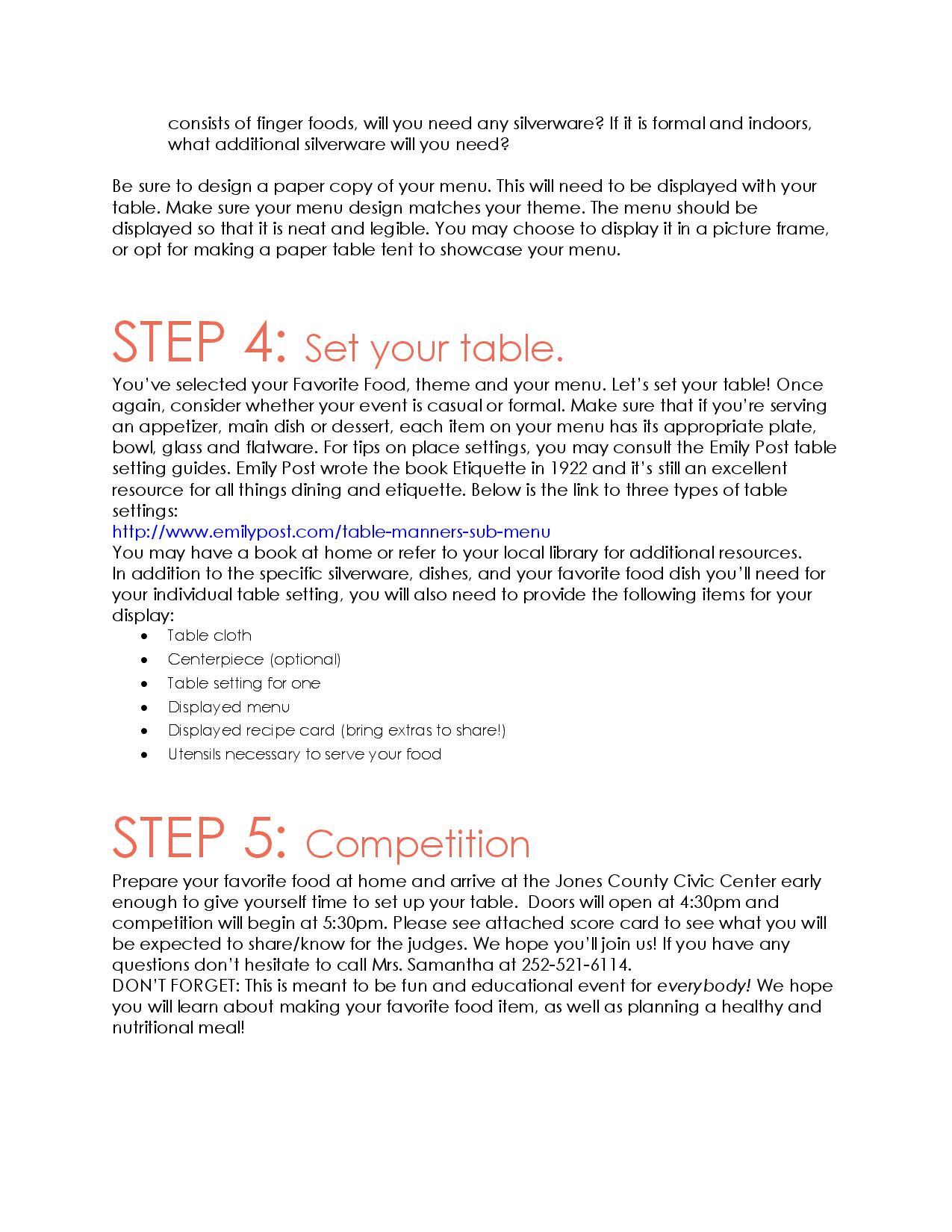Favorite Foods Shoe Handbook page 3 image