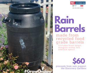 Photo of a rain barrel