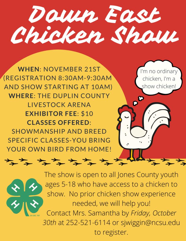 Down East Chicken Show flyer