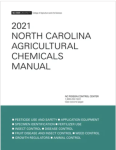 Cover photo for 2021 North Carolina Agricultural Chemicals Manual