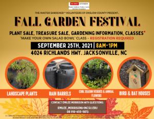 Cover photo for Master Gardener Volunteer Fall Garden Festival (2021)